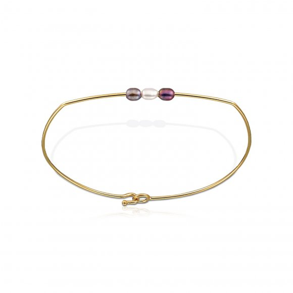 Pearl & Sapphires bangle
