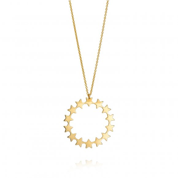Milky round necklace
