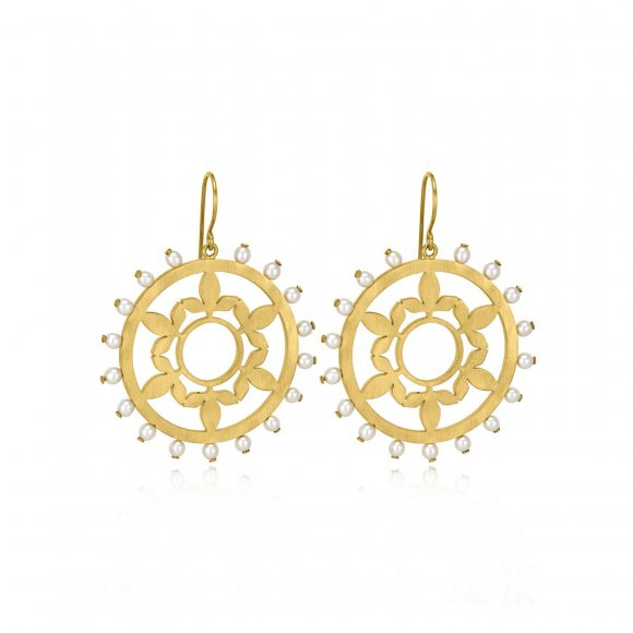 Treasure Flower With Pearls Earrings