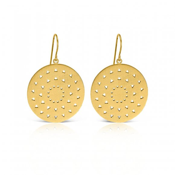 Philosophy Large Round Earrings