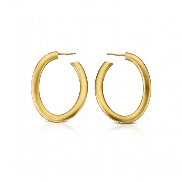 Bands Hoop Curve Earrings