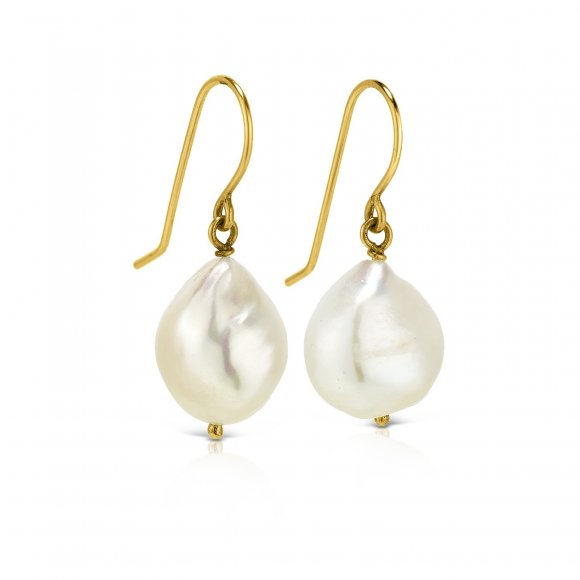 Pebbles irregular sea pearl earrings