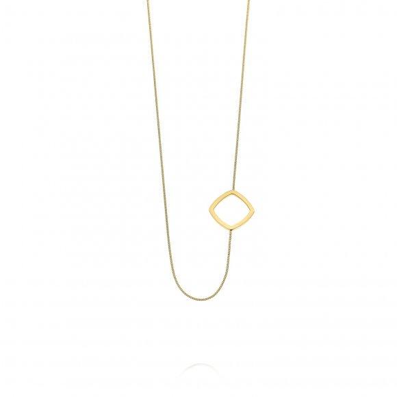 Links short necklace - Square shape
