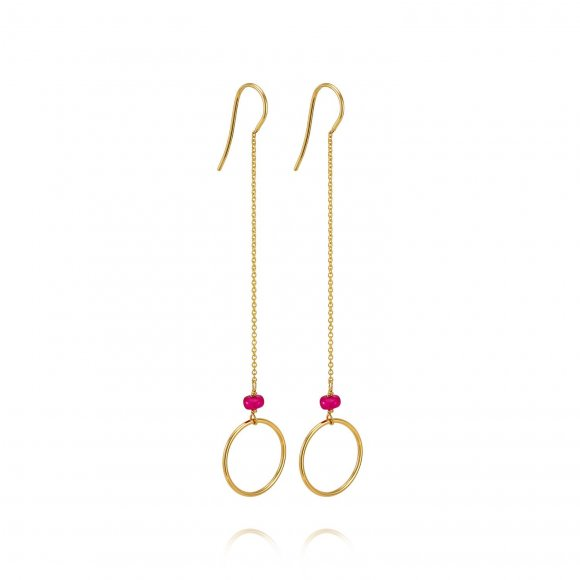 Long Ruby Earrings