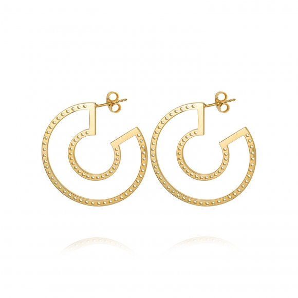 Perforated Hoop earrings