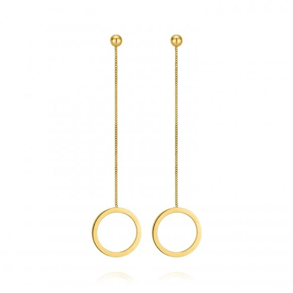 Links Single Round Earrings