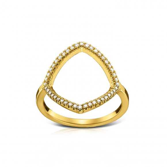 Links Square Diamond Ring