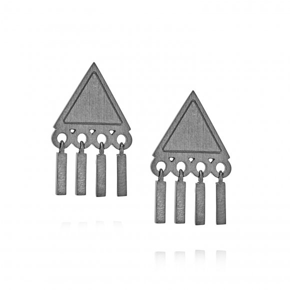 Philosophy Triangle Earrings